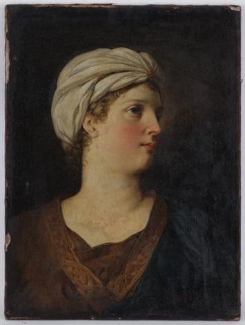 portrait de femme au turban by marie victoire lemoine