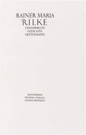 Gesammelte Gedichte 4 Bde Leipzig Insel Verlag 1930 1934
