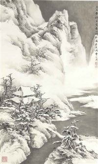 winter landscape by liu yong