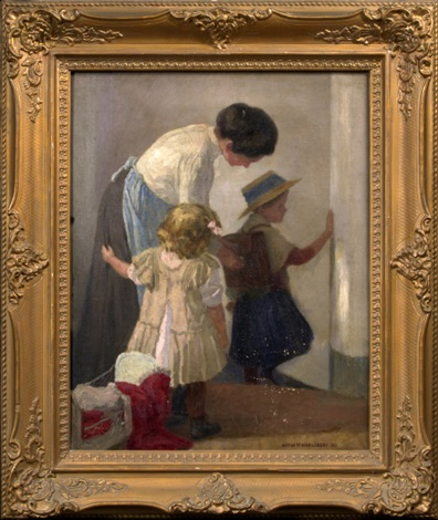 a mother with her children by anton hans karlinsky