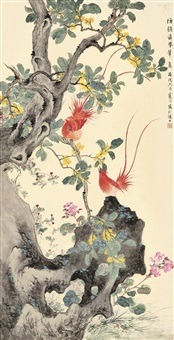 flycatchers by the osmanthus by jiang hanting