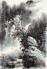 山水 (landscape) by xu xuecheng