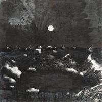 月夜 镜片 设色纸本 by xiao yingchuan