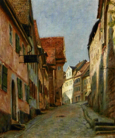 stejl gade i rothenburg by christian tom petersen