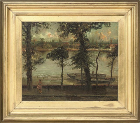 the thames and battersea from cheney walk london by cecil gordon lawson