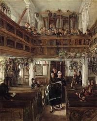 taufe in der kirche zu kappeln by otto piltz