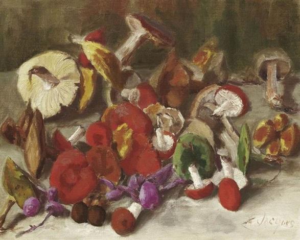 stilleben mit pilzen by andré jacques
