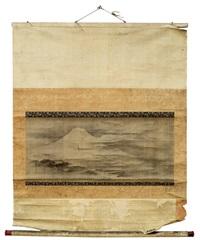 querrolle des fuji an einem feuchten sommermorgen by moriteru tsuruzawa