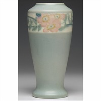 vase with floral design by margaret h. mcdonald