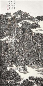 山间红屋 (landscape) by xiao hongde