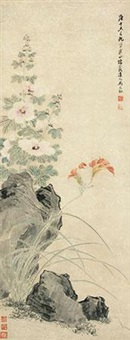 蜀葵 (flowers) by ma yuanyu