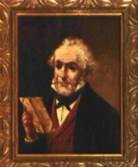 weißhaariger mann ein dokument lesend by lajos koloszvary