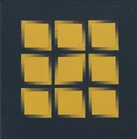 o.-p gelb-schwarz / o-p schwarz-gelb 2002 (2 works) by rudolf vombek