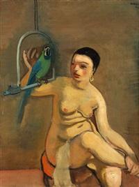 žena s papouškem by georges (karpeles) kars