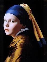 jan vermeer (mädchen mit dem perlenohrring) by rainer elstermann