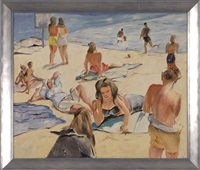beachgoers and cotuit by richard h. bassett
