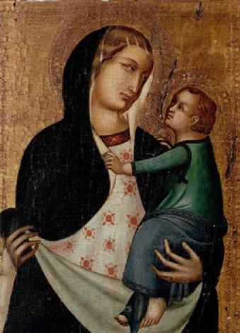 madonnan med barnet by pietro lorenzetti