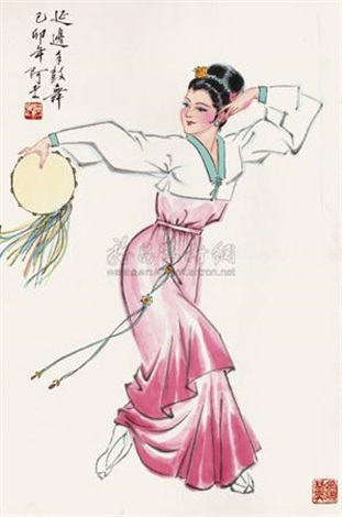 延边手鼓舞 dancing by a lao