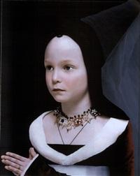 hans memling, bildnis der maria baroncelli (maria portinari) by rainer elstermann