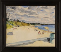 bathers on the beach, cotuit by richard h. bassett