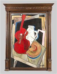 kubistisches stillleben mit gitarre by christian peschke