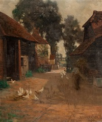 farmyard scene by james bell anderson
