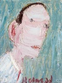 dreiviertelportrait eines mannes mit stirnglatze by holmead (clifford holmead phillips)