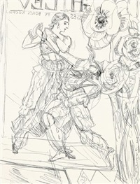 flowers & (sergei) diaghilev by elizabeth peyton