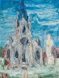 gotische kathedrale (in frankreich?) by holmead (clifford holmead phillips)