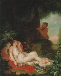 dianas nymf överraskas av satyr by anna dorothea lisiewski