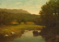 bear creek, jefferson county, ny by alexander helwig wyant