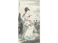 guanyin and child by bai bohua