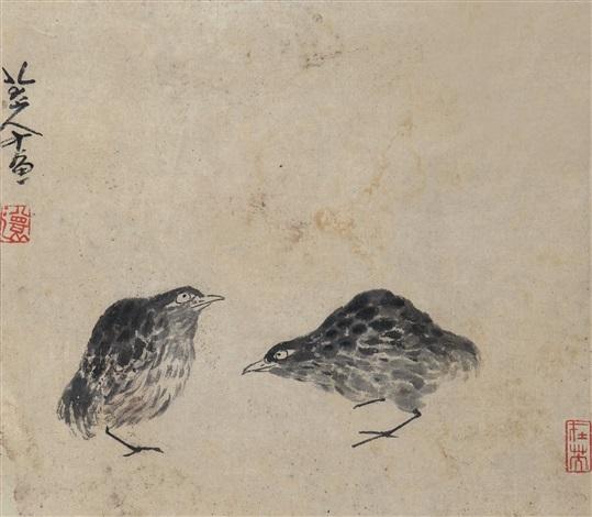 双禽图 quail by bada shanren
