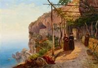 der kapuzinerkonvent san francesco in amalfi by carl (karl) wilhelm götzloff