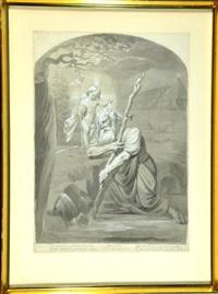 hl. christophorus, gesegnet vom jesusknaben by franz nadorp