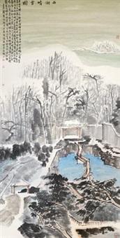 西湖晴雪图 (landscape) by liu zhongyuan