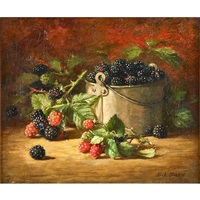 still life of raspberries by emma levina swan