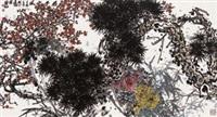 君子之风 镜框 设色纸本 by lin fengsu