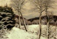 skovparti vinter by hans mortensen agersnap