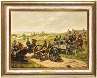 westfälische feldartillerie, regiment 7, sowie stab und 1. abteilung wesel, 2. abteilung düsseldorf-derendorf by christian sell the elder