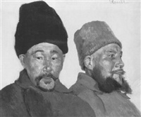 ein zaristischer offizier und ein kirgisischer infantrist by herbert arnold