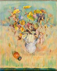 blätter und blüten in vase by paul vahrenhorst