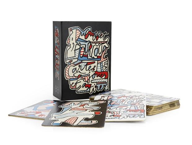 banque de lhourloupe cartes à jouer et à tirer set of 52 by jean dubuffet