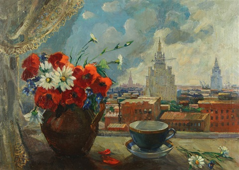 view from vorobyovy gory moscow by igor popov