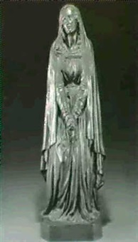 figure of a weeping maiden by a. quinton