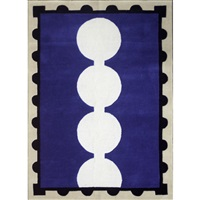 chivalry blue contemporary area rug by david shaw nicholls