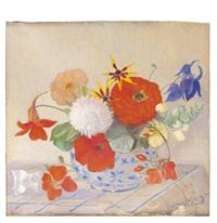 blumenstrauß in kugeliger vase by marcel dornier