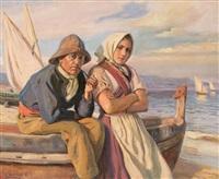 un marinero y una joven by dionisio baixeras y verdaguer