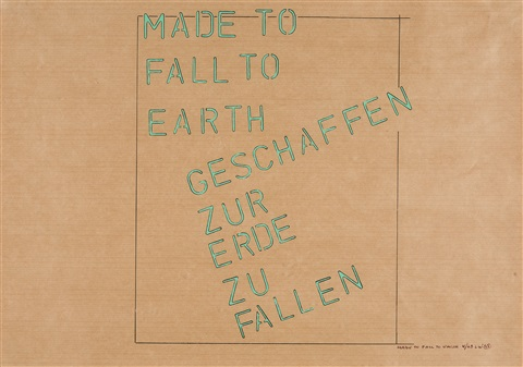 made to fall to earth by lawrence weiner