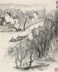 rivertown in jiangnan by li keran